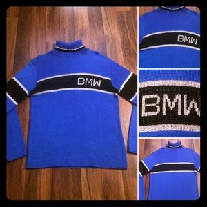 🔥FIRM! Vintage 80s BMW Acrylic Sweater
